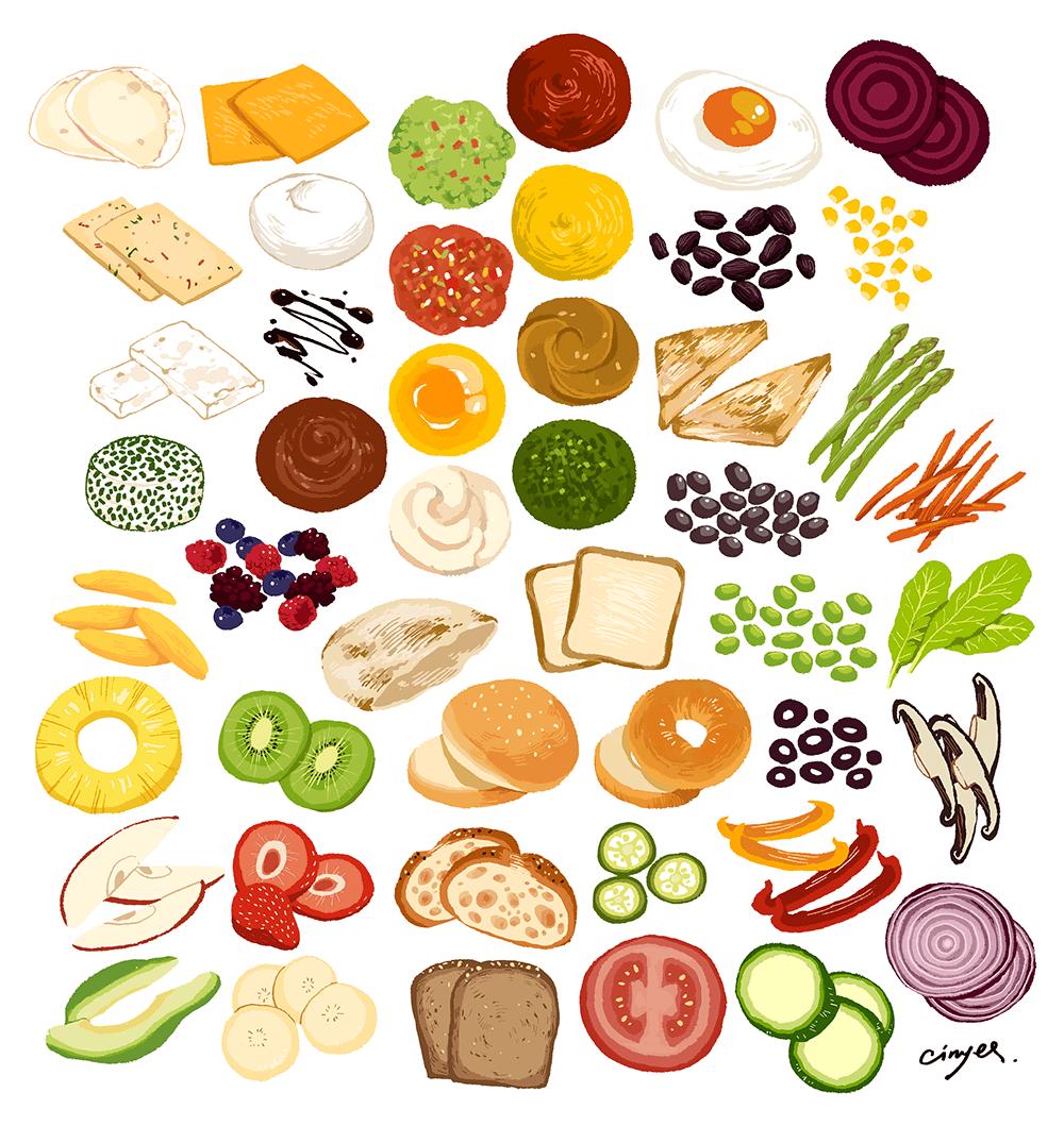 Sandwich ingredients - Cinyee Chiu